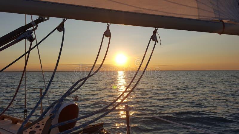 Jeziorny Huron żeglowanie fotografia royalty free