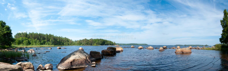 Jeziorny Innaren w Szwecja fotografia stock