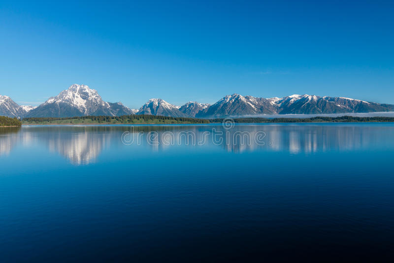 Jeziorny Jackson w Wyoming obrazy royalty free
