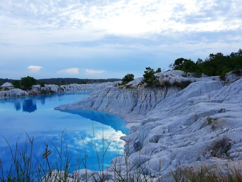 Jeziorny kaolinu powietrze Bara zdjęcie stock