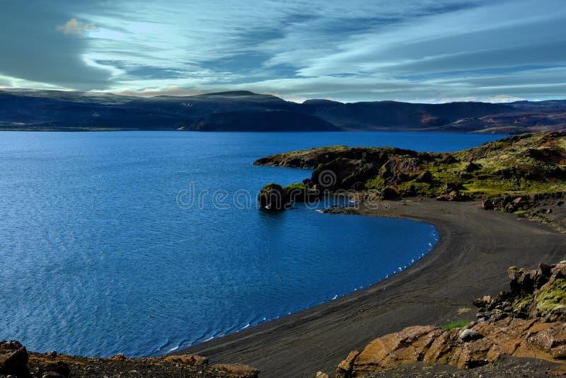 Jeziorny Kleifarvatn zdjęcia stock