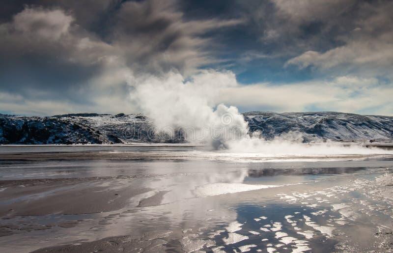 Jeziorny Kleifarvatn, Iceland obraz stock