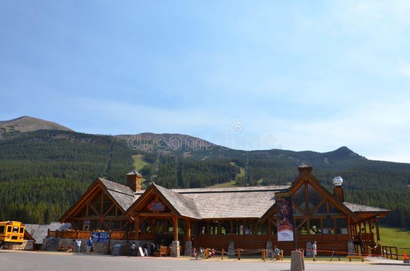 Jeziorny Louise - ośrodka narciarskiego lata gondola obraz stock