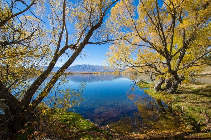 Jeziorny McGregor, Canterbury region, Nowa Zelandia zdjęcia stock