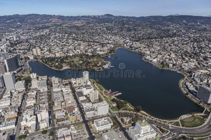 Jeziorny Merritt Parkowy pobliski W centrum Oakland Kalifornia obraz royalty free