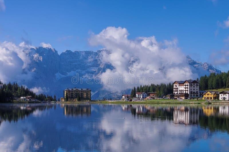 Jeziorny Misurina zdjęcie royalty free