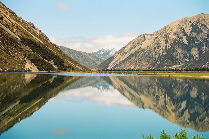 jeziorny nowy odbicie Zealand fotografia royalty free