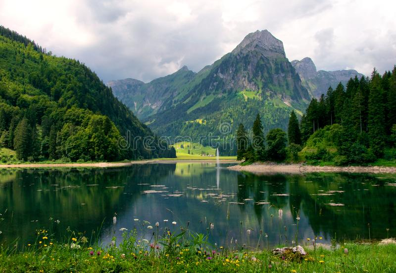 Jeziorny Obersee, Szwajcaria fotografia royalty free