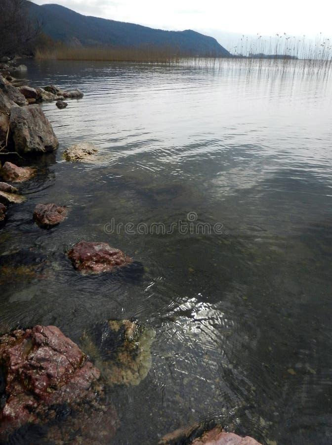 Jeziorny Ohrid Macedonia obrazy stock