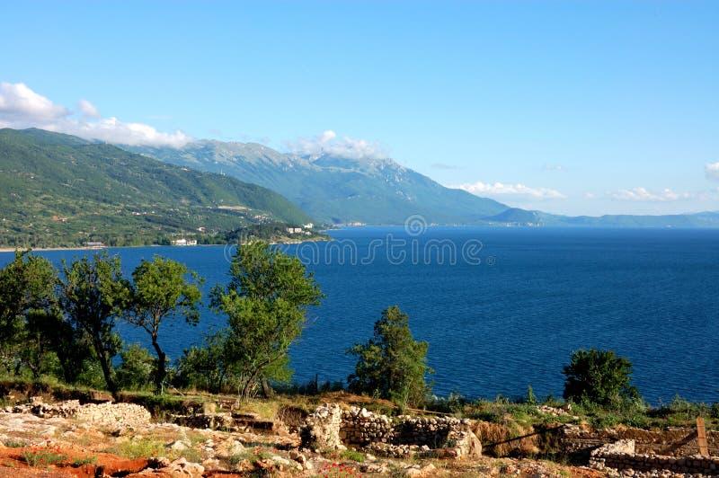 jeziorny ohrid panoramy widok obrazy royalty free