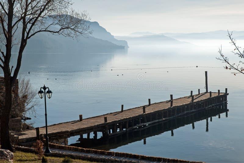 Jeziorny Ohrid, republika Macedonia (FYROM) obrazy royalty free