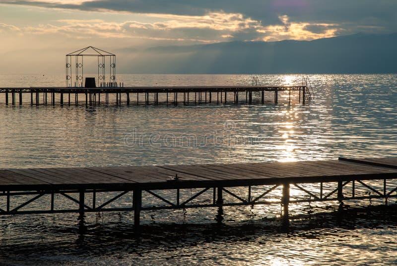 Jeziorny Ohrid, republika Macedonia (FYROM) zdjęcie royalty free