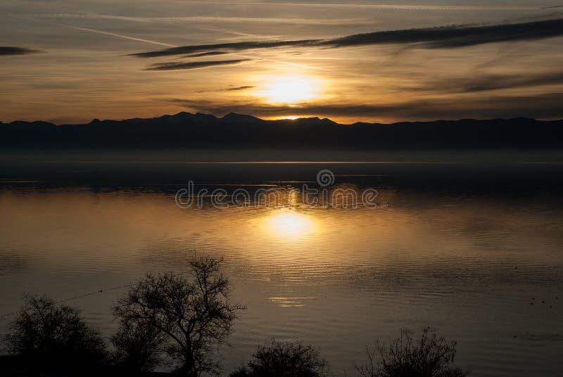 Jeziorny Ohrid, republika Macedonia (FYROM) zdjęcie stock