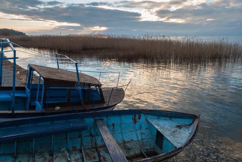 Jeziorny Ohrid, republika Macedonia (FYROM) obraz stock