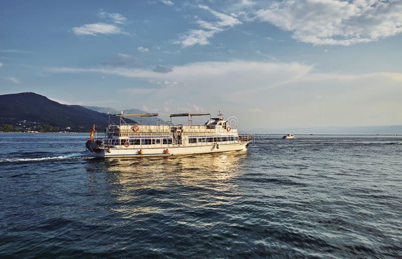Jeziorny Ohrid w Macedonia zdjęcie royalty free
