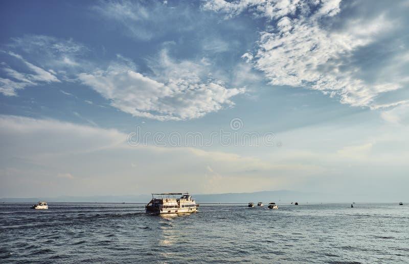 Jeziorny Ohrid w Macedonia zdjęcia royalty free