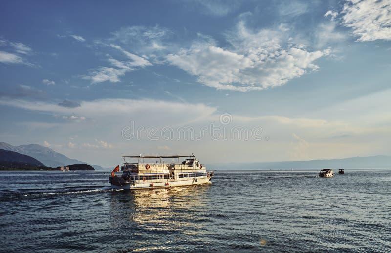 Jeziorny Ohrid w Macedonia obrazy royalty free