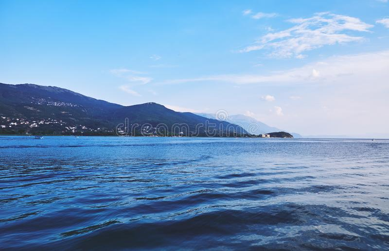 Jeziorny Ohrid w Macedonia obraz royalty free