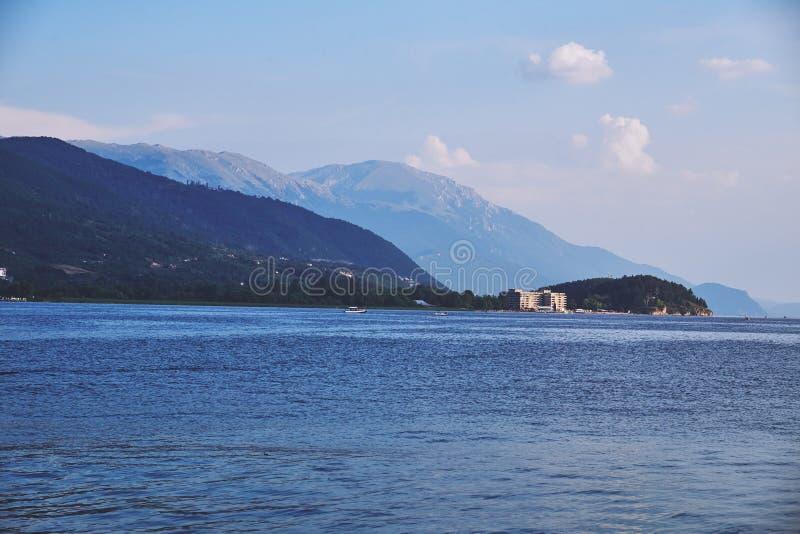 Jeziorny Ohrid w Macedonia obraz stock
