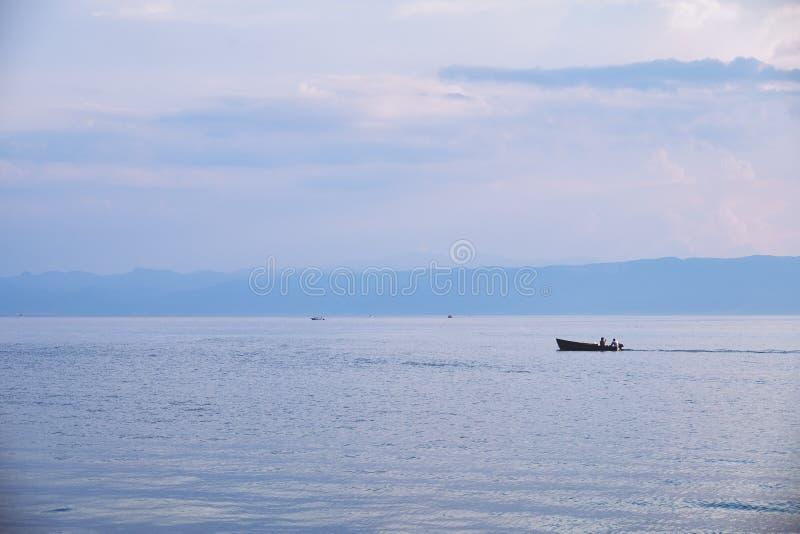 Jeziorny Ohrid w Macedonia zdjęcia stock