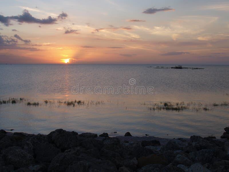 Jeziorny Okeechobee zmierzch obrazy stock