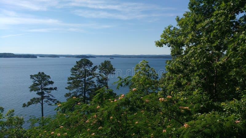 Jeziorny Ouachita widzieć od Brady góry w Gorących wiosnach park narodowy, Arkansas, usa obrazy royalty free