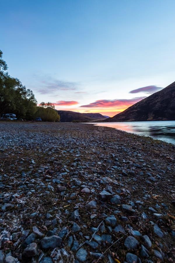Jeziorny Pearson Arthur przepustki park narodowy, Nowa Zelandia obraz stock