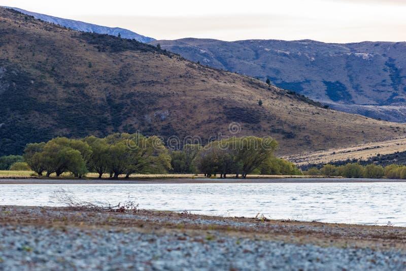 Jeziorny Pearson Arthur przepustki park narodowy, Nowa Zelandia zdjęcia royalty free