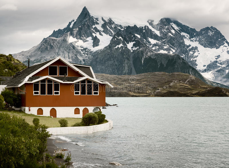 Jeziorny Pehoe, Torres Del Paine park narodowy, Patagonia obrazy royalty free