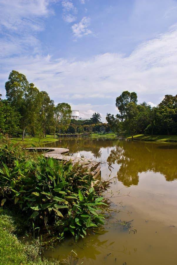 Jeziorny Plenerowy park w Selangor Malezja obrazy royalty free