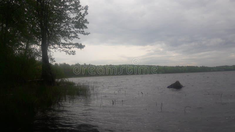Jeziorny połów NH zdjęcia royalty free