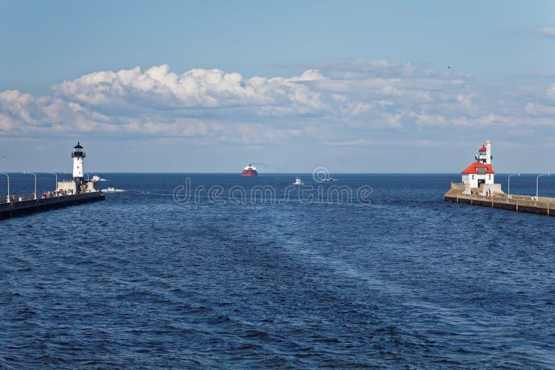 Jeziorny przełożony przeglądać od Powietrznego dźwignięcie mosta zdjęcie stock