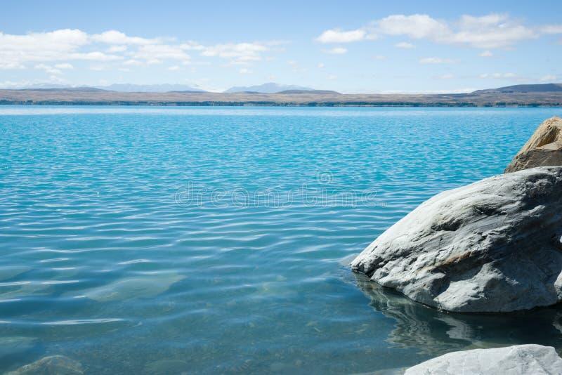 Jeziorny Pukaki, Południowa wyspa NZ fotografia stock