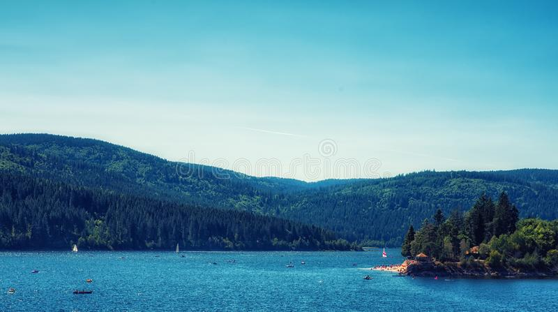 Jeziorny Schluchsee Czarny las Niemcy obraz stock