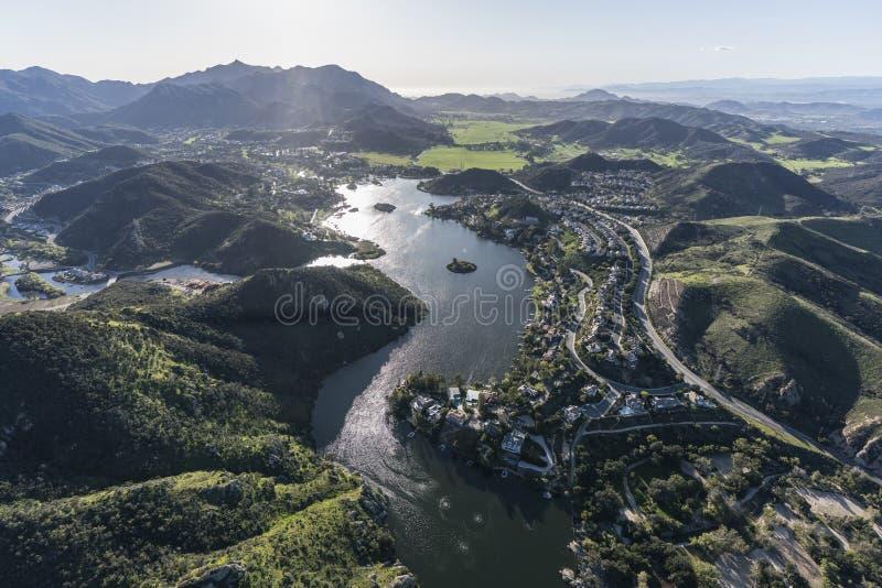 Jeziorny Sherwood w Ventura okręgu administracyjnym Kalifornia zdjęcia royalty free