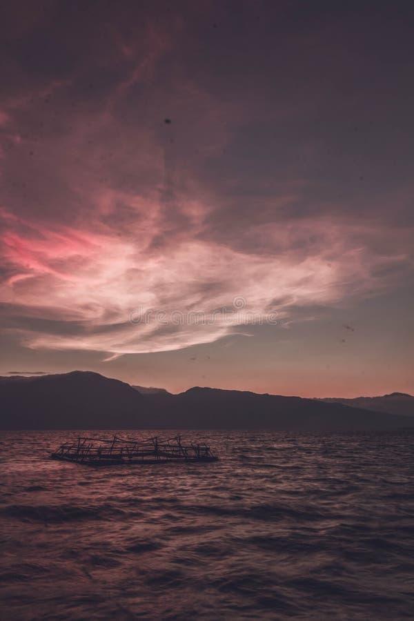 Jeziorny Singkarak zachodni sumatera obrazy royalty free
