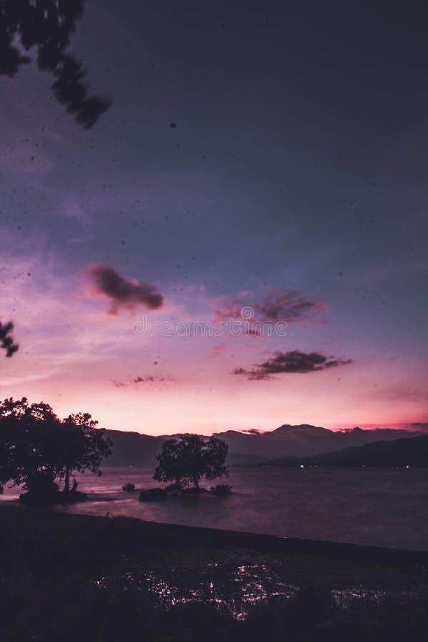 Jeziorny Singkarak zachodni sumatera zdjęcia royalty free