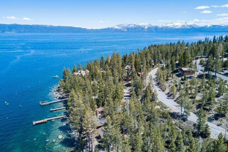 Jeziorny tahoe widok z lotu ptaka fotografia royalty free