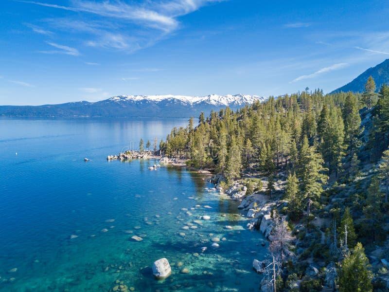 Jeziorny tahoe widok z lotu ptaka obraz royalty free