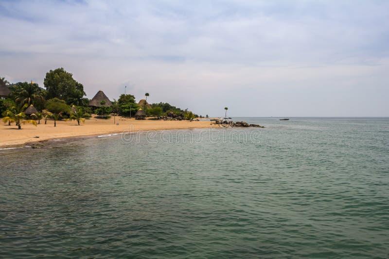 Jeziorny Tanganyika w Burundi obrazy stock