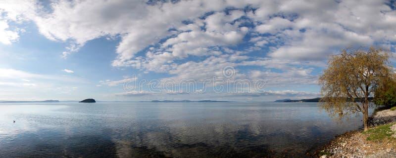 jeziorny taupo obrazy royalty free