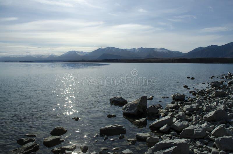 Jeziorny Tekapo Lanscape fotografia royalty free