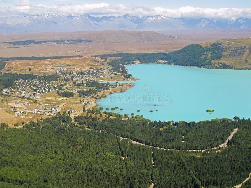 Jeziorny Tekapo, Nowa Zelandia zdjęcie stock