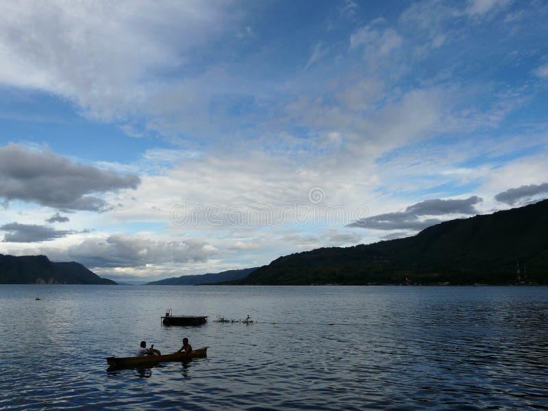 Jeziorny Toba Indonezja fotografia royalty free