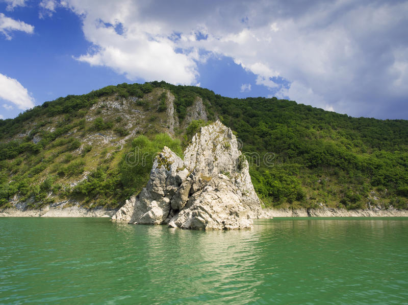 Jeziorny Uvac, Serbia obraz stock