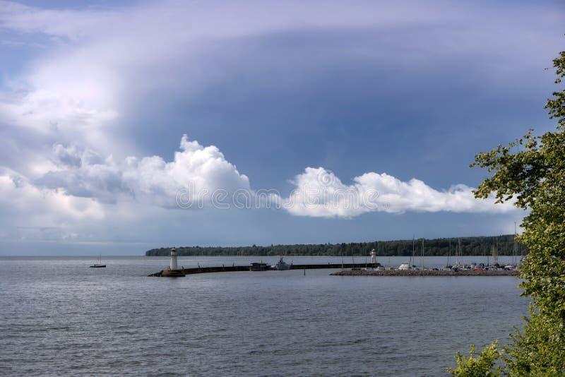 Jeziorny Vaettern blisko Hjo obrazy stock