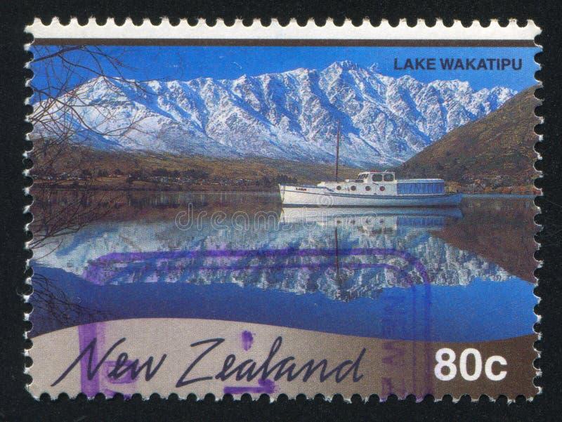 Jeziorny Wakatipu fotografia stock