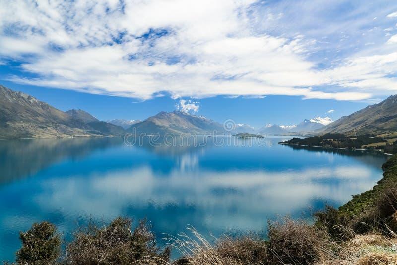 Jeziorny Wakatipu, Południowa wyspa, Nowa Zelandia obraz stock