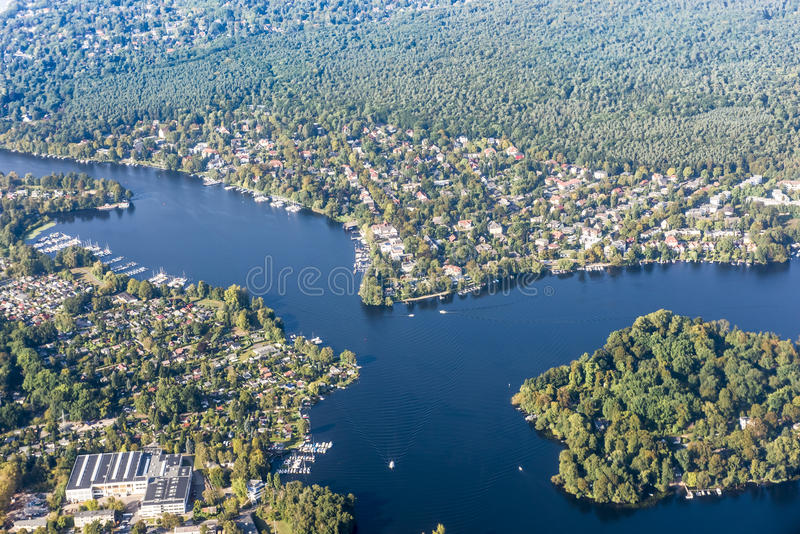 Jeziorny Wannsee Berlin obrazy royalty free