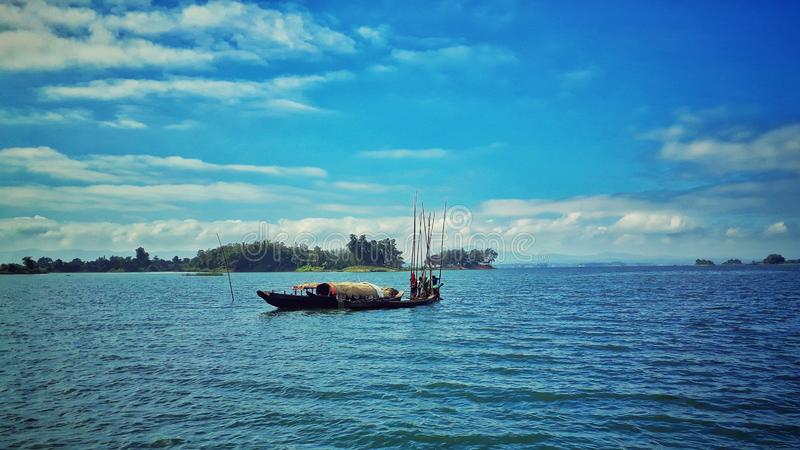 Jeziorny widok Bangladesz fotografia stock